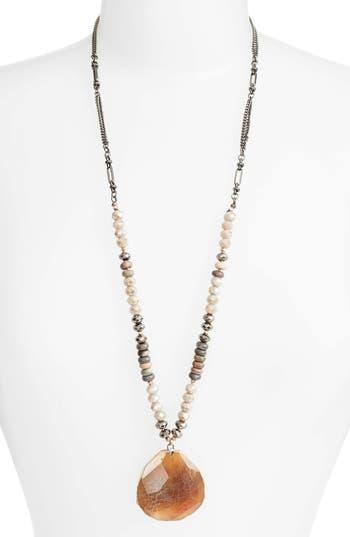 Women's Nakamol Design Long Agate Pendant Necklace