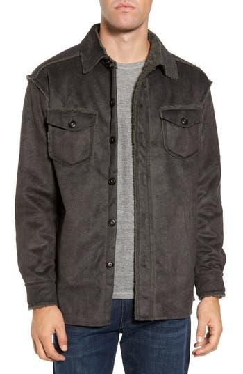Men's True Grit Faux Shearling & Faux Suede Shirt Jacket, Size Small - Green