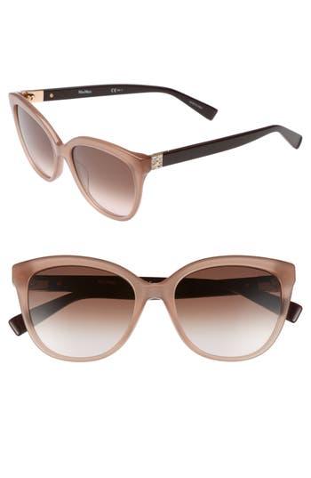 Women's Max Mara Tile 55Mm Cat Eye Sunglasses - Nude