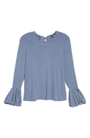 Women's Bobeau Bell Sleeve Top, Size Small - Blue