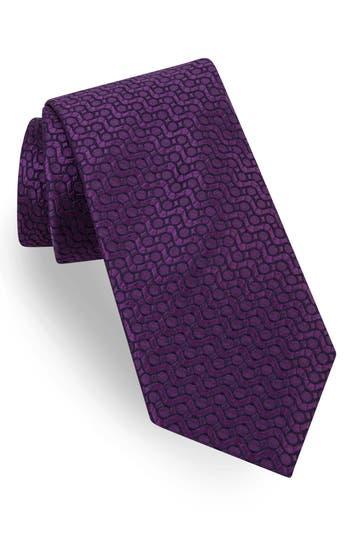 Men's Ted Baker London Groovy Neat Silk Tie, Size Regular - Purple