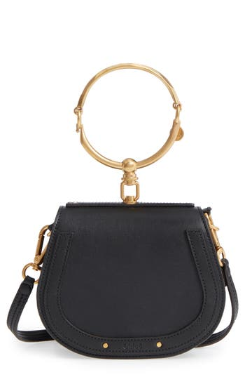 Chloé Small Nile Bracelet Leather Crossbody Bag - Black