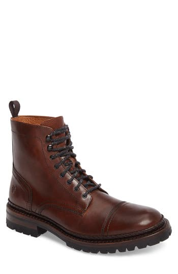 Frye George Cap Toe Boot, Brown