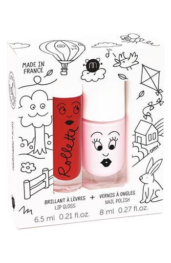 Nailmatic Water-Based Nail Polish Set - Red/ Light Pink
