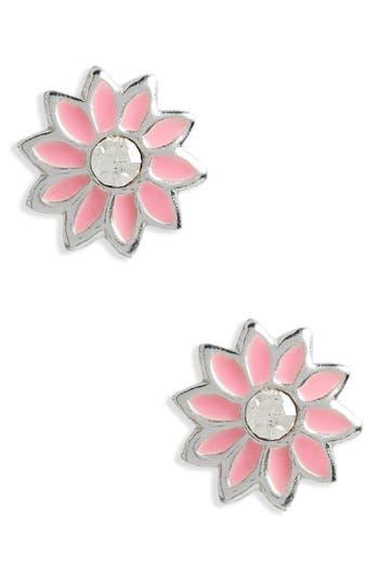 Girl's Tomas Crystal Flower Sterling Silver Stud Earrings