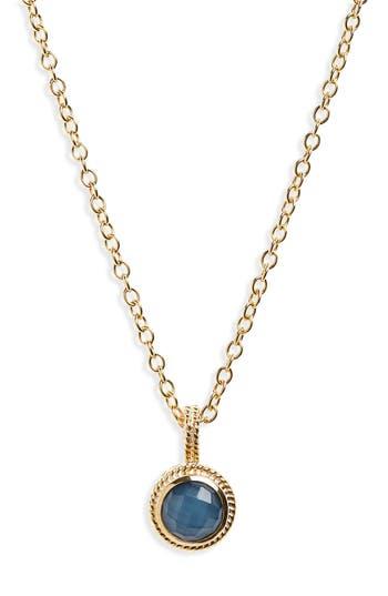 Women's Anna Beck Semiprecious Stone Round Drop Pendant Necklace