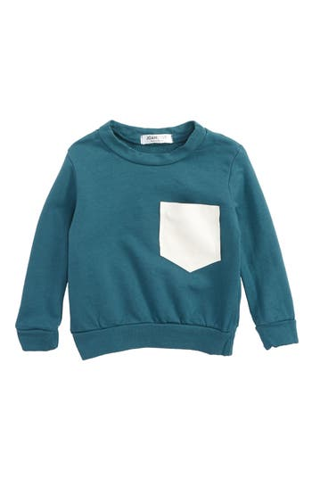 Infant Boy's Joah Love Pocket Sweatshirt, Size 3M - Blue