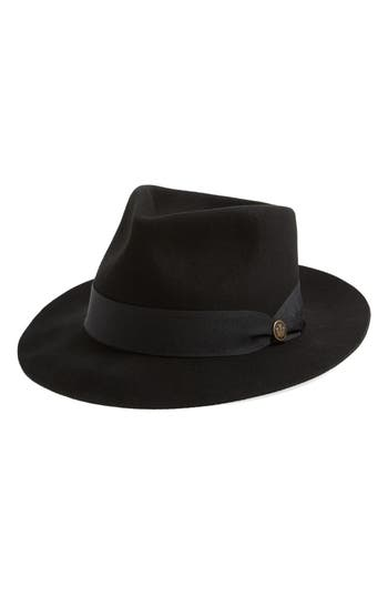 Men's Goorin Brothers Mr. Walker Wool Fedora - Black