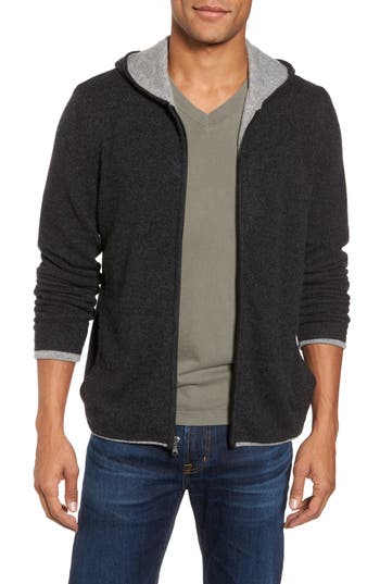 James Grey Cashmere In Perse Zip Anthracite Hoodie Heather ww47qRU