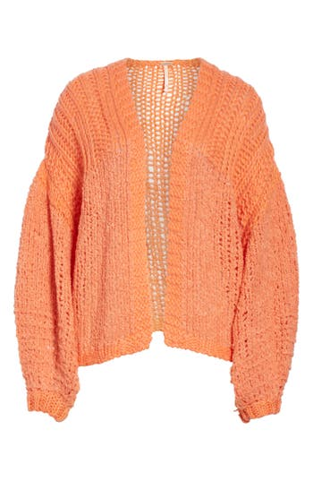 Women's Free People Chamomile Cardigan, Size X-Small - Orange