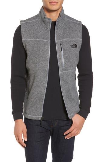 Men's The North Face Gordon Lyons Zip Fleece Vest, Size Small - Grey