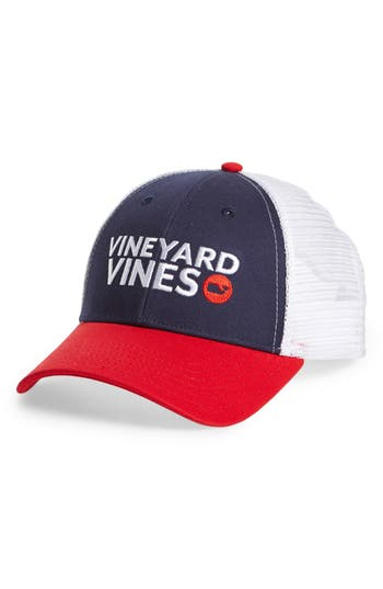 Men's Vineyard Vines Americana Trucker Cap - Blue