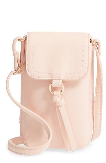 Bp. Tassel Faux Leather Phone Crossbody Bag -