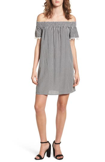 Women's Love, Fire Off The Shoulder Gingham Dress