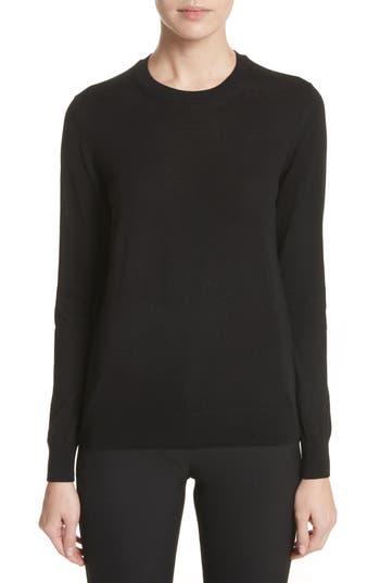 Burberry Viar Merino Wool Sweater, Black