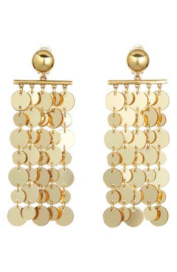 1960s Jewelry – 1960s Style Necklaces, Earrings, Rings, Bracelets Womens Oscar De La Renta Hammered Disc Clip Earrings $490.00 AT vintagedancer.com