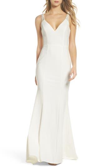 1930s Style Wedding Dresses | Art Deco Wedding Dress Womens Lulus Embellished Strap Trumpet Gown $119.00 AT vintagedancer.com