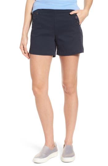 Vintage High Waisted Shorts, Sailor Shorts, Capris Womens Jag Jeans Sailor Button Detail Shorts $69.00 AT vintagedancer.com