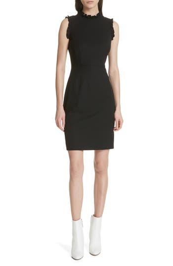 Rebecca Taylor Spring Ruffle Dress, Black