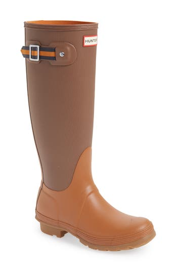 Hunter Original Sissinghurst Tall Rain Boot, Brown