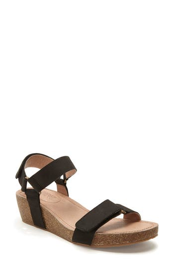 Women's Adam Tucker Shea Wedge Sandal, Size 9.5 M - Black