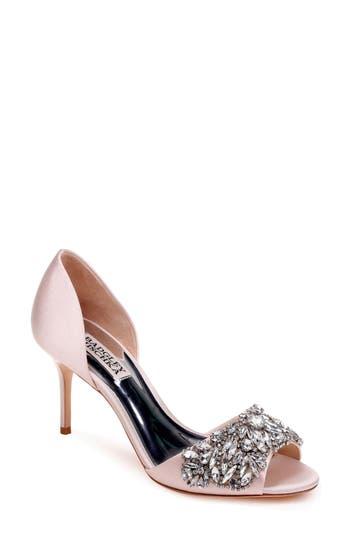 Badgley Mischka Hansen Crystal Embellished Sandal, Pink