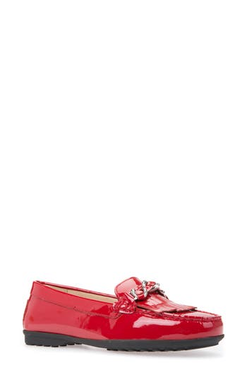 Geox Elidia Moccasin Loafer, Red