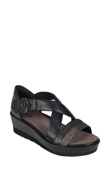 Earth Hibiscus Sandal, Black