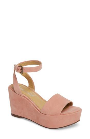 Splendid Felix Platform Wedge Sandal- Pink