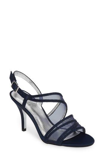 Adrianna Papell Adelphi Asymmetrical Mesh Sandal, Blue