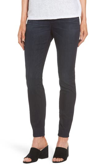 Petite Eileen Fisher Denim Leggings, Blue