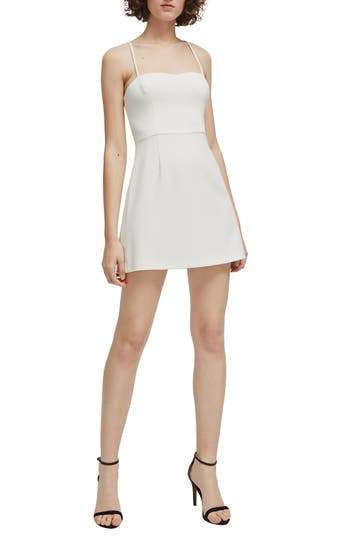 French Connection Whisper Light Sweetheart Minidress, White