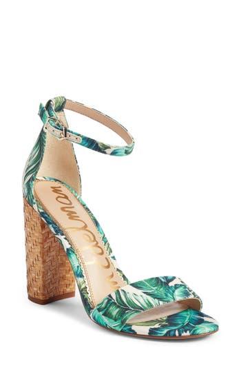 Sam Edelman Yaro Ankle Strap Sandal- Blue/green