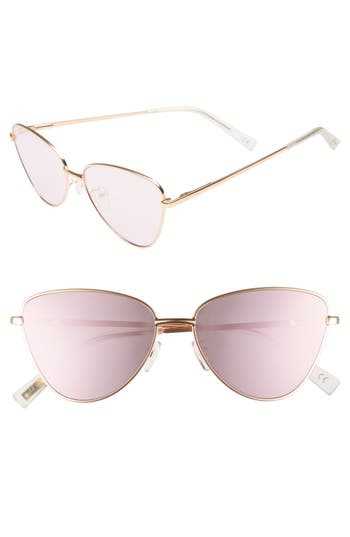 Le Specs Echo 5m Butterfly Sunglasses - Matte Rose Gold