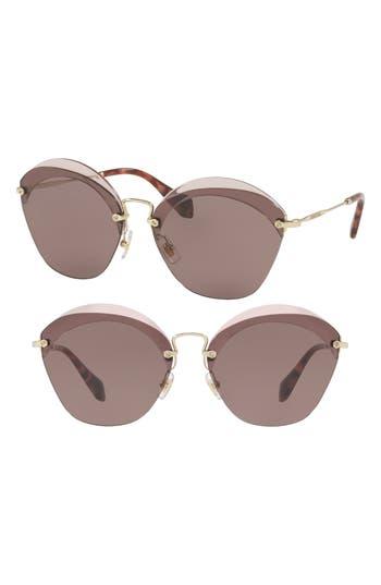 Miu Miu 62Mm Sunglasses - Transparent Red Solid