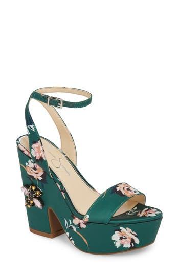 Jessica Simpson Carena Platform Sandal- Green