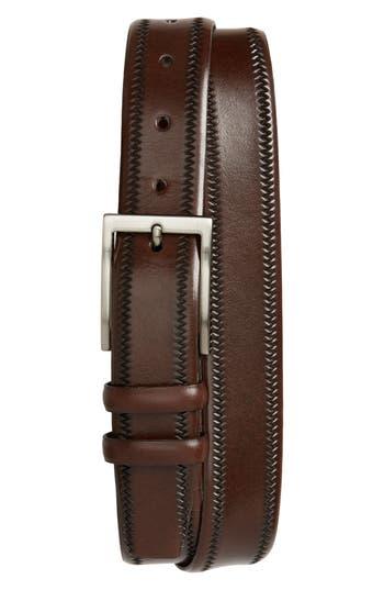 Big & Tall Torino Belts Embossed Leather Belt, Brown