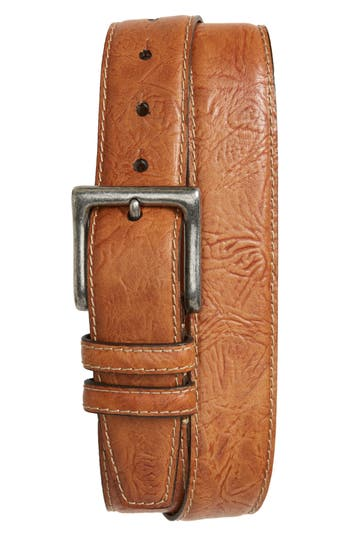 Big & Tall Torino Belts Puckered Leather Belt, Saddle