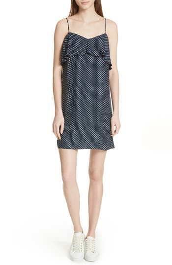 Atm Anthony Thomas Melillo Polka Dot Silk Dress, Blue