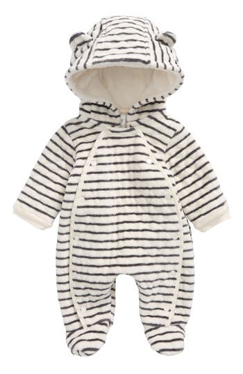 Infant Nordstrom Baby Hooded Bunting, Size Newborn - Ivory