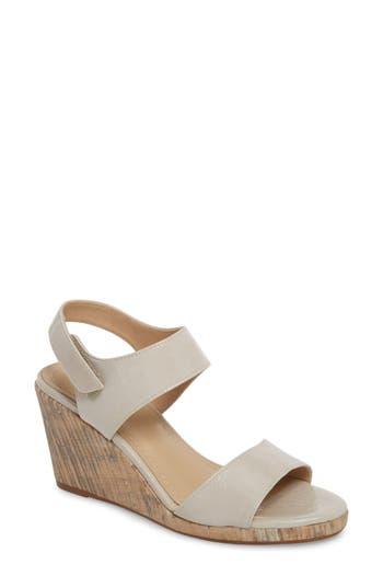 Johnston & Murphy Glenna Wedge Sandal- White