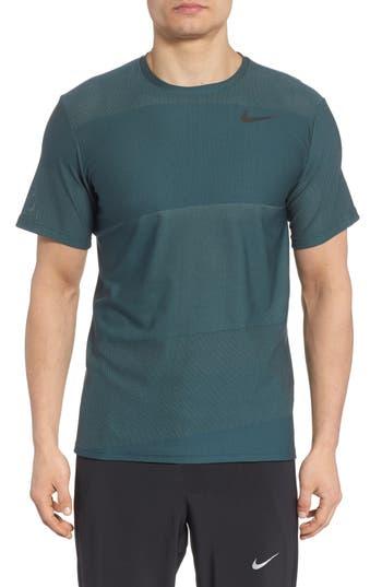 Nike Crewneck Mesh T-Shirt, Green