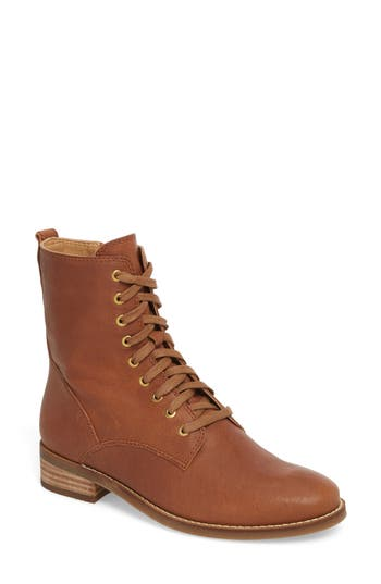Lucky Brand Hestawn Moto Bootie- Brown