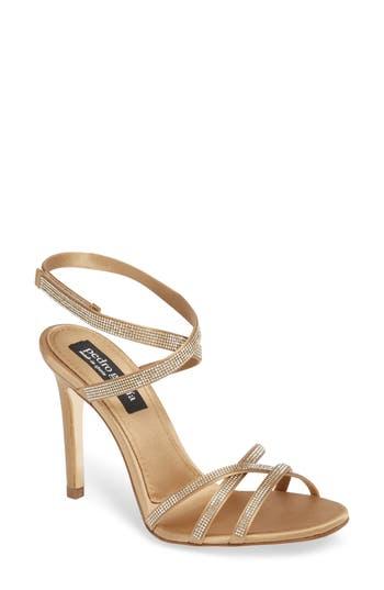 Women's Pedro Garcia Rosalia Crystal Sandal, Size 7US / 37EU - Metallic