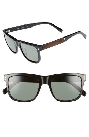 Shwood Monroe 55Mm Polarized Sunglasses - Black/ Elm
