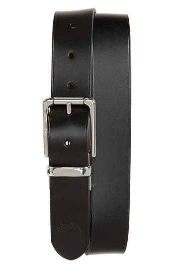Polo Ralph Lauren Reversible Leather Belt, Black/ Brown