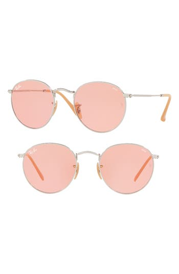 Ray-Ban 5m Evolve Photochromic Round Sunglasses - Pink