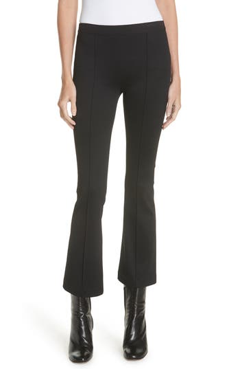 Helmut Lang Ribbed Crop Flare Leggings, Black