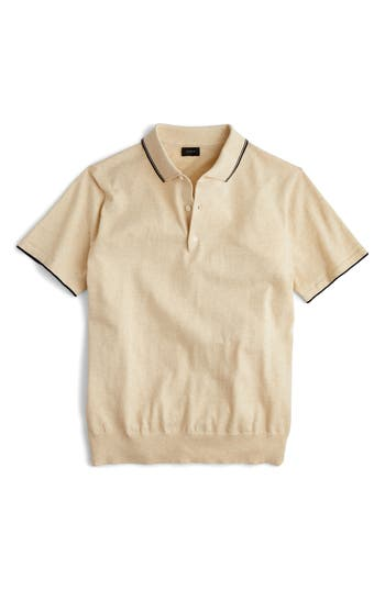J.crew Tipped Sweater Polo, Beige
