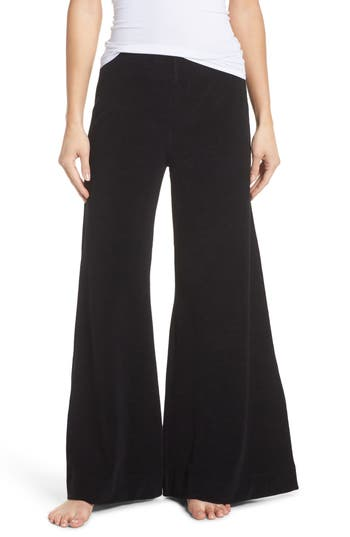 Ragdoll Terry Flare Lounge Pants, Black